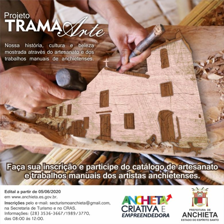 Prorrogada inscrição para projeto que fomenta arte e cultura em Anchieta