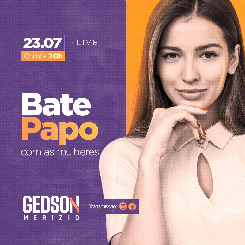 Gedson Merízio realiza bate-papo virtual com mulheres de Guarapari