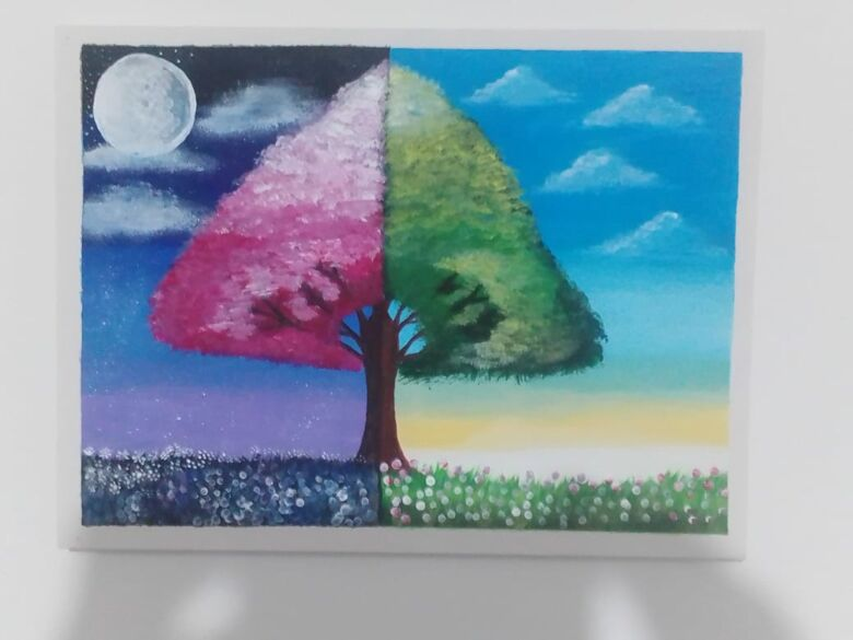 Guarapari: Autista vence limitações através da arte e pede doações de material de pintura