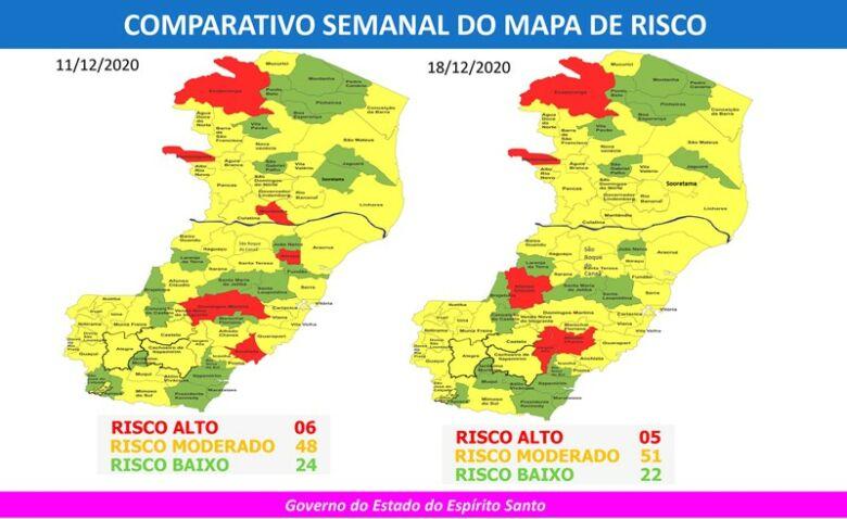 mapa de risco covid