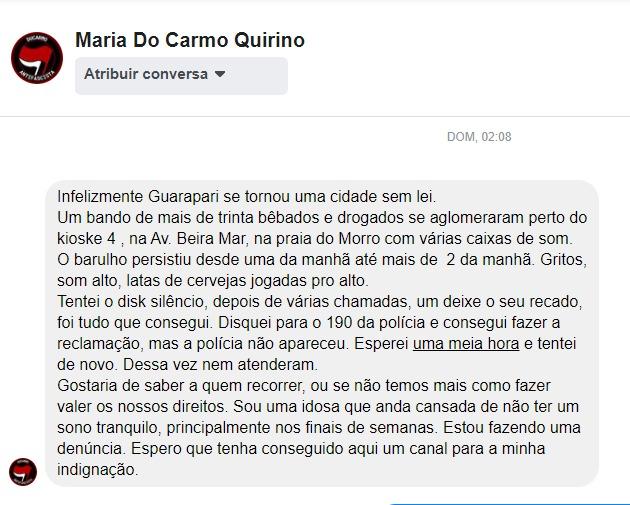 Moradora de Guarapari reclama de aglomeração e som alto na orla da Praia do Morro