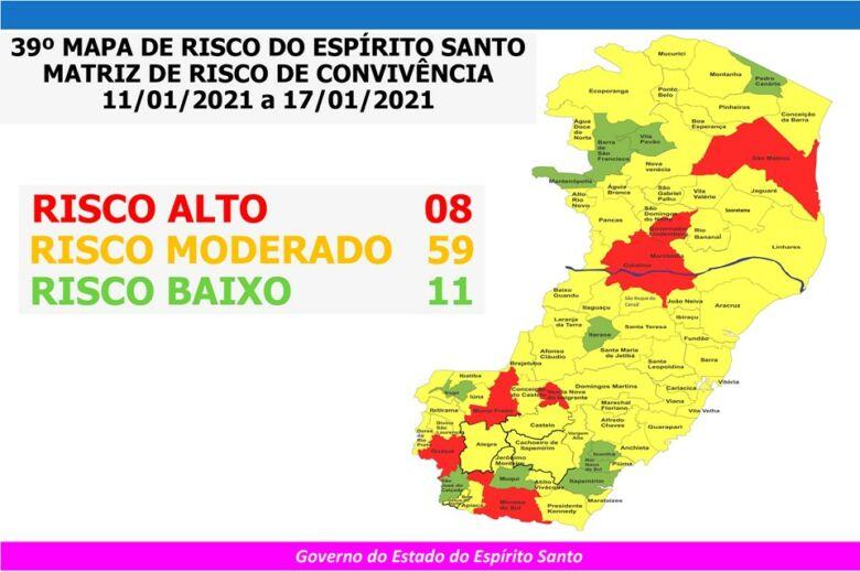 mapa de risco covid-19
