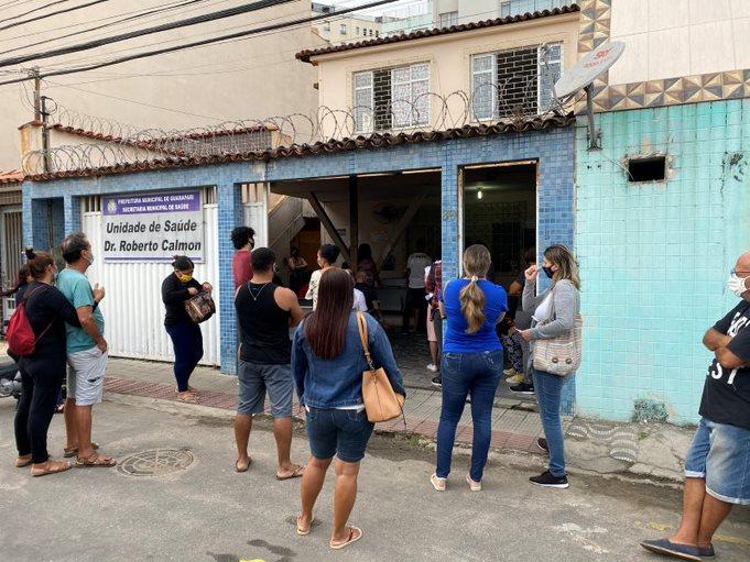 Local provisório da Unidade de Saúde Dr. Roberto Calmon